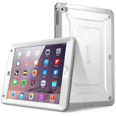iPad Air 2 Case, SUPCASE, Unicorn Beetle Pro Series, Apple iPad Air 2 Case ,Rugged Hybrid Protective Case-White/Gray