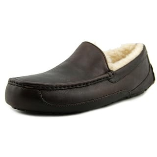 Ugg Australia Ascot Moc Toe Leather Slipper. Men s Slippers For Less   Overstock com