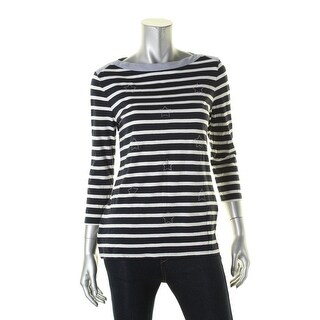 Tommy Hilfiger Womens Pullover Top Jersey Striped