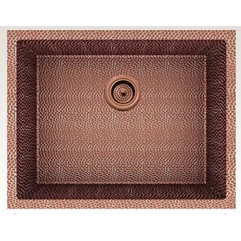 American Imaginations 23-in. W CSA Approved Rose Copper Kitchen Sink With Copper Finish And 16 Gauge - 18