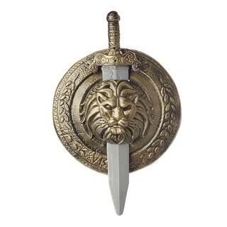 California Costumes Gladiator Combat Shield and Sword - GOLD