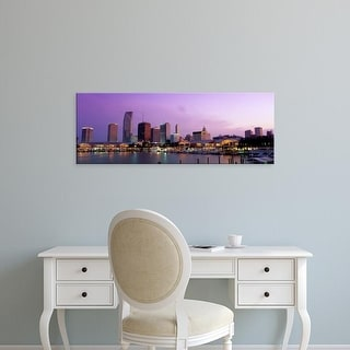 Easy Art Prints Panoramic Images's 'USA, Florida, Miami, Bayside Marketplace, twilight' Premium Canvas Art