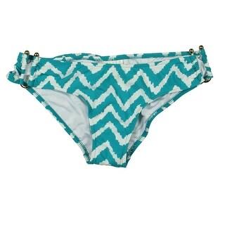 Milly Cabana Womens Chevron Scoop Swim Bottom Separates - p