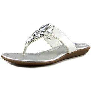 Bandolino Jesane Women Open Toe Synthetic White Thong Sandal
