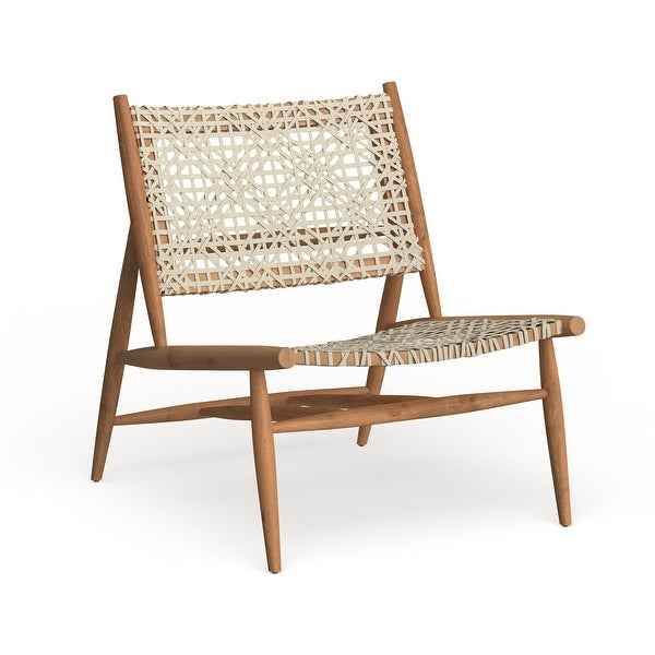 """Safavieh Bandelier Leather Weave Accent Chair - 26"""" W x 31.5"""" L x 30.7"""" H. Opens flyout."""