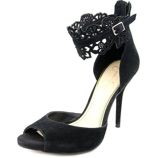 Jessica Simpson Bonney Women Peep-Toe Synthetic Heels