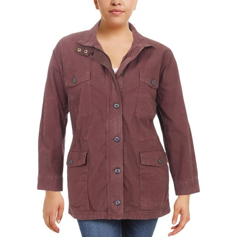 Lucky Brand Womens Plus Jacket Utility Winter