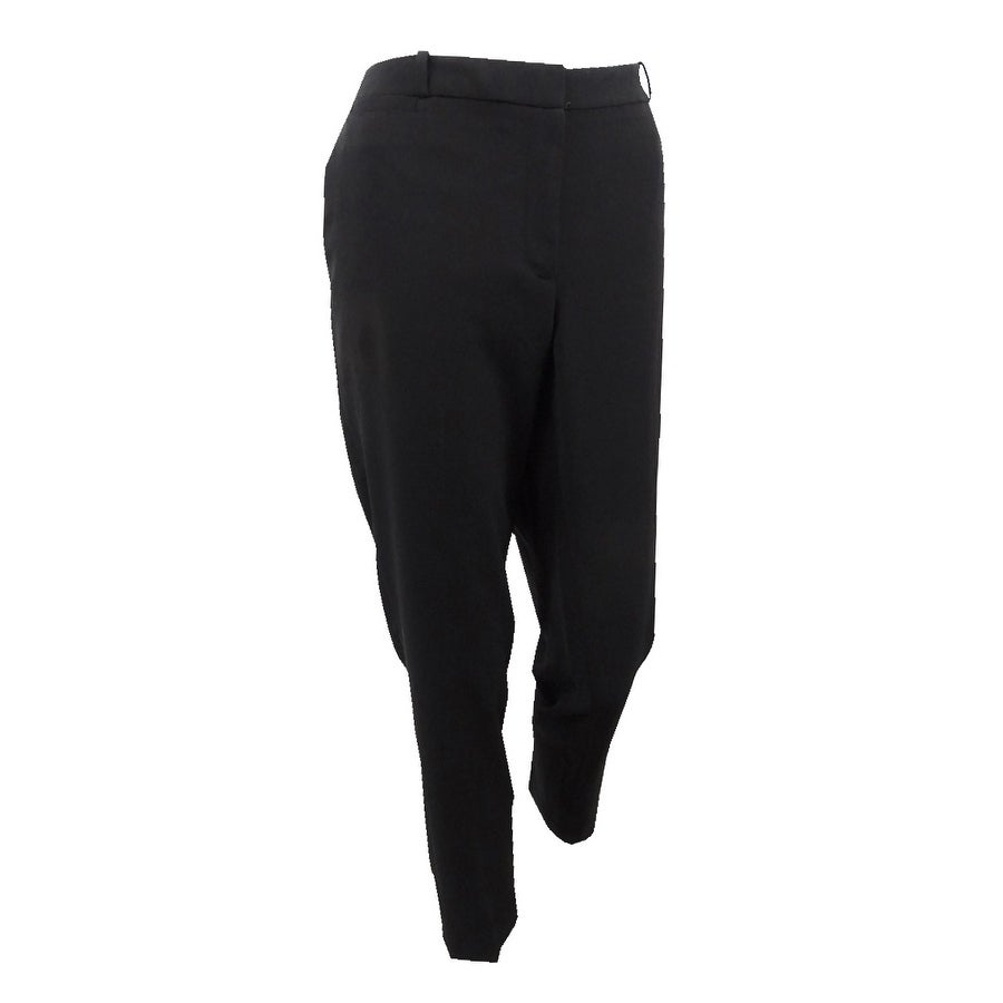 Tommy Hilfiger Womens Slim-Leg Ankle Pants - Black