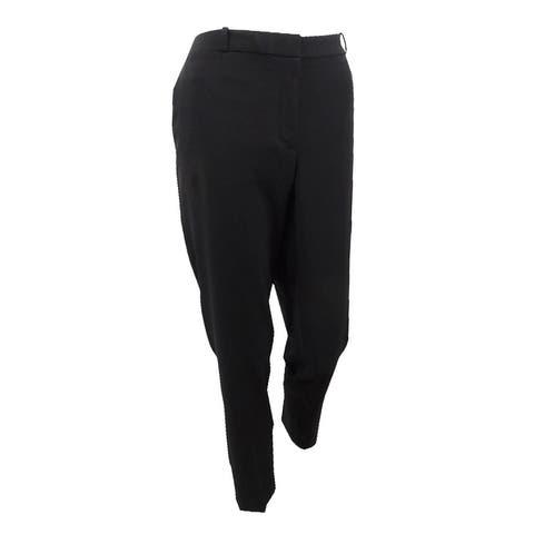 Tommy Hilfiger Women's Slim-Leg Ankle Pants - Black