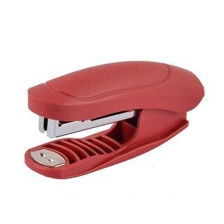 Office School Desk Paper File Book Hand Press Stapler Red w Staples