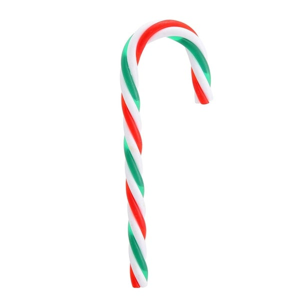 Pack of 12 Red, Green and White Striped Candy Cane Christmas Ornaments 5.75""