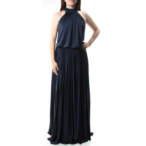 $209 BETSY & ADAM New Womens 1157 Navy Sleeveless Formal Blouson Dress 6 B+B