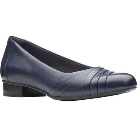 Clarks Women's Juliet Petra Pump Navy Leather