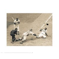 ''Jackie Robinson Stealing Home, May 18, 1952'' by Bettmann Archive Celebrities Art Print (16 x 20 in.)