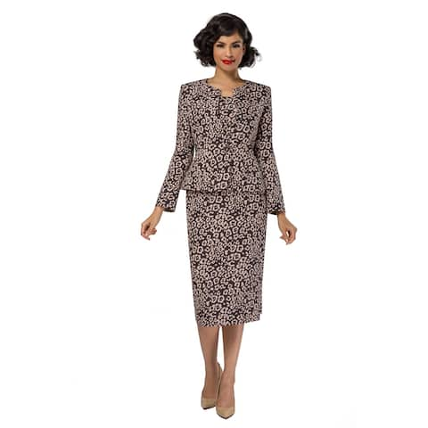 Giovanna Signature 3-pc Novelty Leopard Print Skirt Suit
