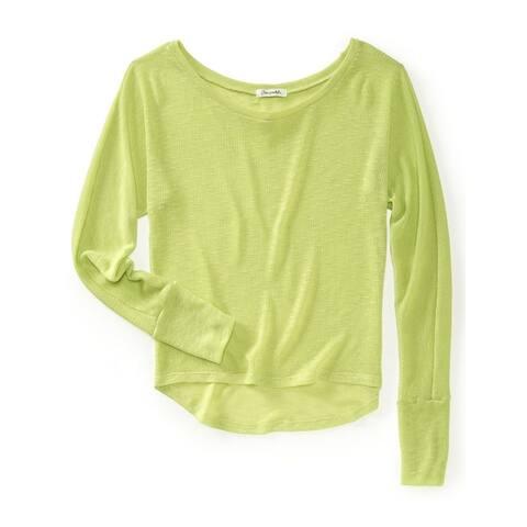 Aeropostale Womens Lightweight Knit Sweater, Yellow, X-Small