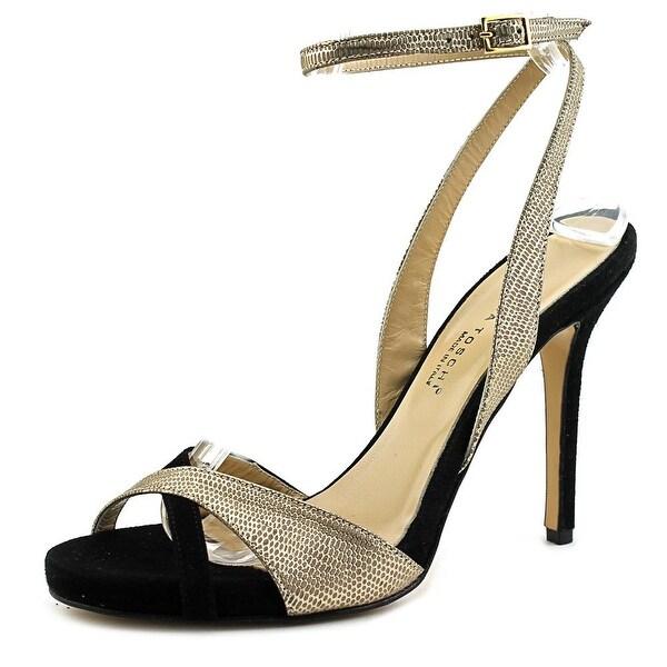 Ilaria Toschi 50624 Women Open-Toe Synthetic Black Heels