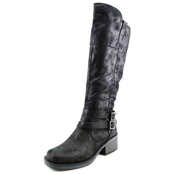 White Mountain Gypsum Women Round Toe Canvas Black Knee High Boot