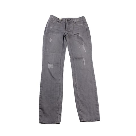 Vince Camuto Grey Distressed Skinny Jeans -