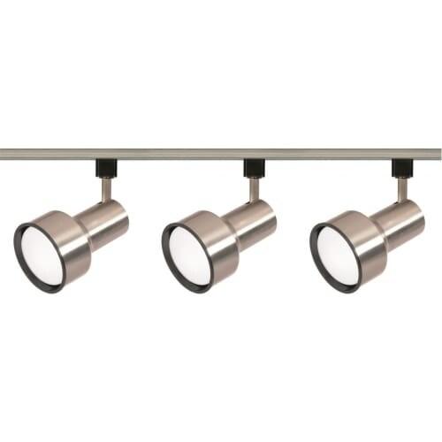 Nuvo Lighting TK340 Three Light R30 Step Cylinder Track Kit - Brushed nickel