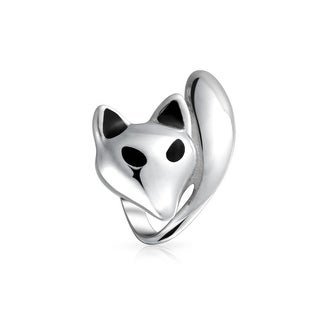 Bling Jewelry Fox Animal Bead Charm .925 Sterling Silver