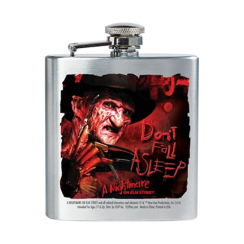 Nightmare on Elm Street Don't Fall Asleep 8oz Stainless Steel Flask