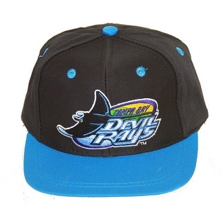 Tampa Bay Devil Rays Youth Size Elastic Stretch Hat - Blue - One size