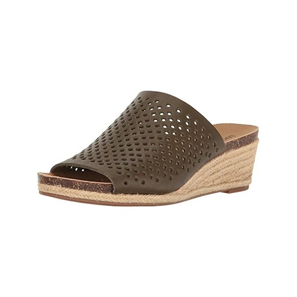Lucky Brand Womens Jemya Wedge Sandals Espadrilles Open Toe