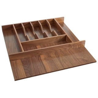 Rev-A-Shelf 4WCT-WN-3SH 4WCT Series 21-1/8 Inch Trimmable Cutlery Tray with 9 Co