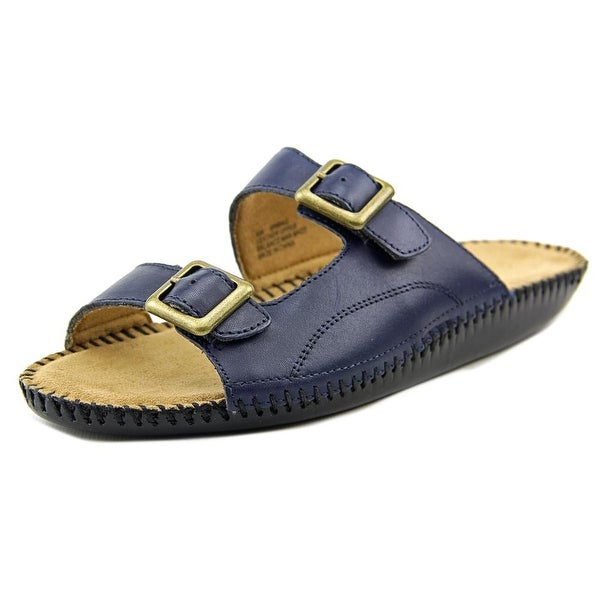 Auditions Spring Women W Open Toe Leather Slides Sandal