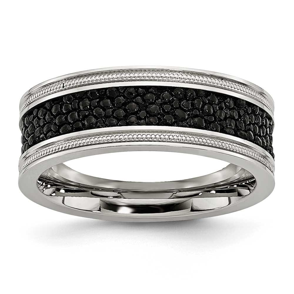 Bridal Wedding Bands Decorative Bands Stainless Steel Polished Textured Ring Size 10