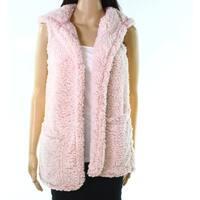 Moa Moa Heather bLish Pink Womens Size Small S Soft VestJacket