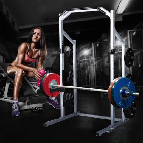 Home Gym Power Rack Weight Lifting Squat Stand Strength Training
