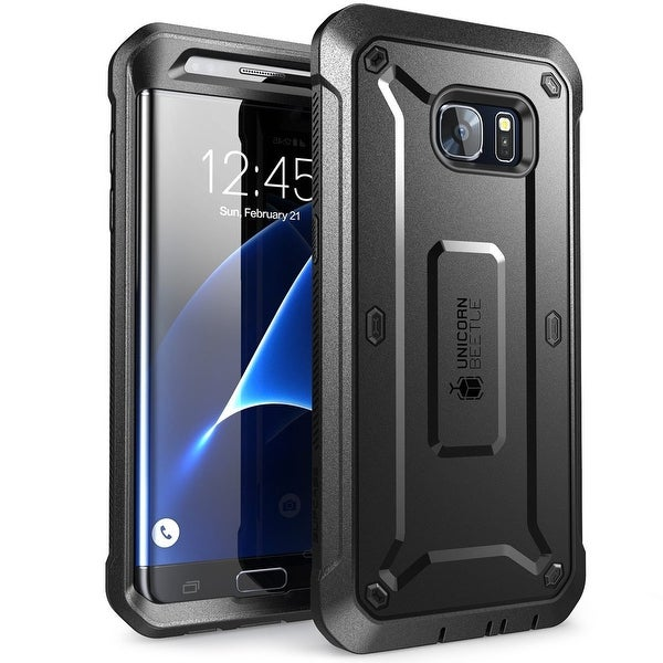 Galaxy S7 Edge Case, SUPCASE,Full-body Rugged Holster Case WITHOUT Screen Protector for Samsung Galaxy S7 Edge-Black