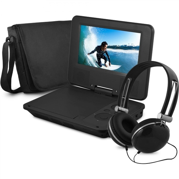 """Onn ONA16AV008 7"""" Portable DVD Player w/ Headphones 4-HR Battery Manufacturer Refurbished"""
