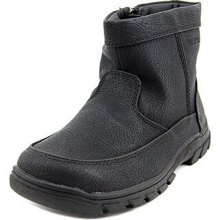 Florsheim Trektion Zip Youth Round Toe Synthetic Black Boot