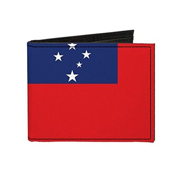 Buckle-Down Canvas Bi-fold Wallet - Samoa Flag Accessory