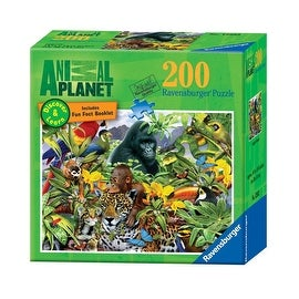 Ravensburger Animal Planet: Jungle Friends 200 Piece Discover And Learn Puzzle