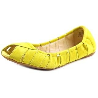 Nine West Munchkin Women Round Toe Suede Yellow Ballet Flats