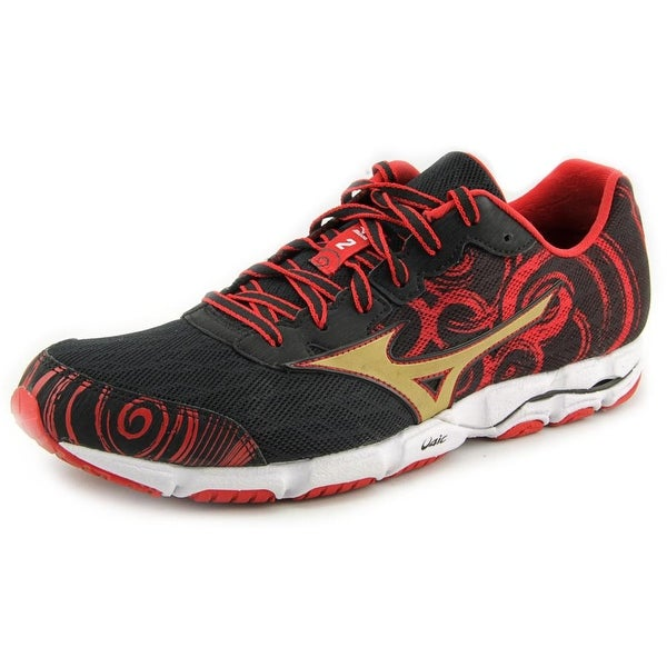 Mizuno Wave Hitogami 2 Men Round Toe Synthetic Black Running Shoe