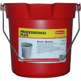 Rubbermaid 296300 RED Round Bucket, 10 Quart, Red