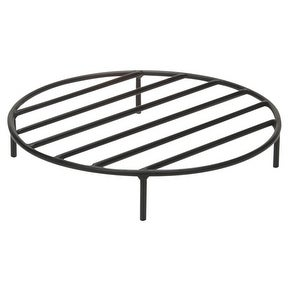 Round Steel Outdoor Fire Pit Wood Grate by Sunnydaze Decor - Black