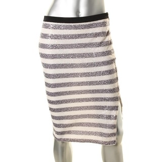 Rachel Roy Womens Pencil Skirt Stretch Sequin - 2