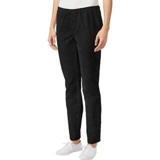 Karen Scott Womens Petites Corduroy Pants Comfort Waist Pull On