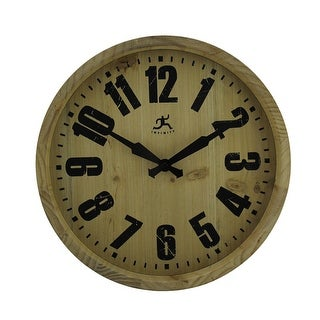 Infinity Instruments 14 inch Round Wood Barrel Wall Clock