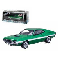Fenix\'s 1972 Ford Gran Torino Green The Fast and The Furious Movie (2009) 1/43 Diecast Car Model by Greenlight