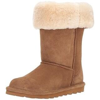 BEARPAW Women's Elle Tall Fashion Boot, Hickory II, 11 M US