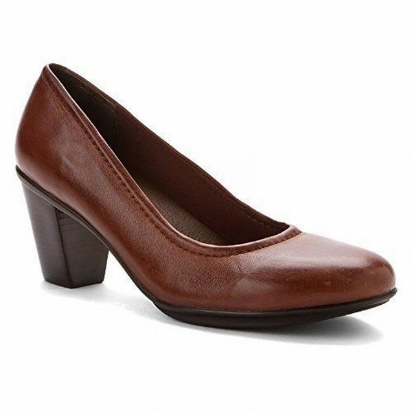 Rose Petals NEW Brown Jacyln Shoes 8W Mary Janes Leather Heels