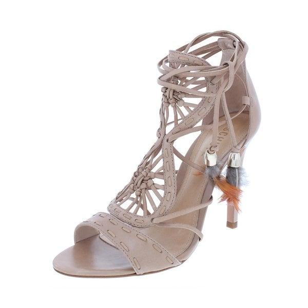 38defc7f666 Shop Schutz Womens Lilianna Strappy Sandals Leather Heel - 8 Medium ...