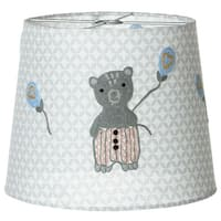 Set of 4 Gray and Yellow Decorative Embroidered Bear Lamp Shade 10""